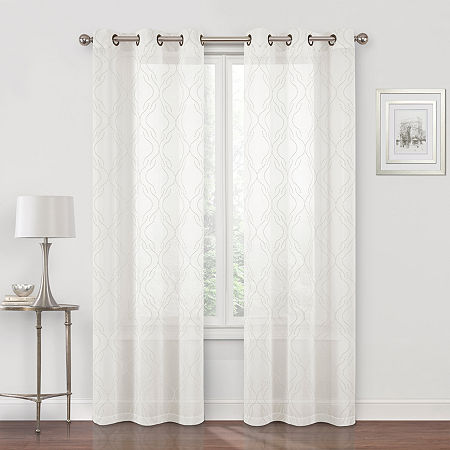 Regal Home Sterling Matte Sheer Grommet-Top Single Curtain Panel, One Size , Beige