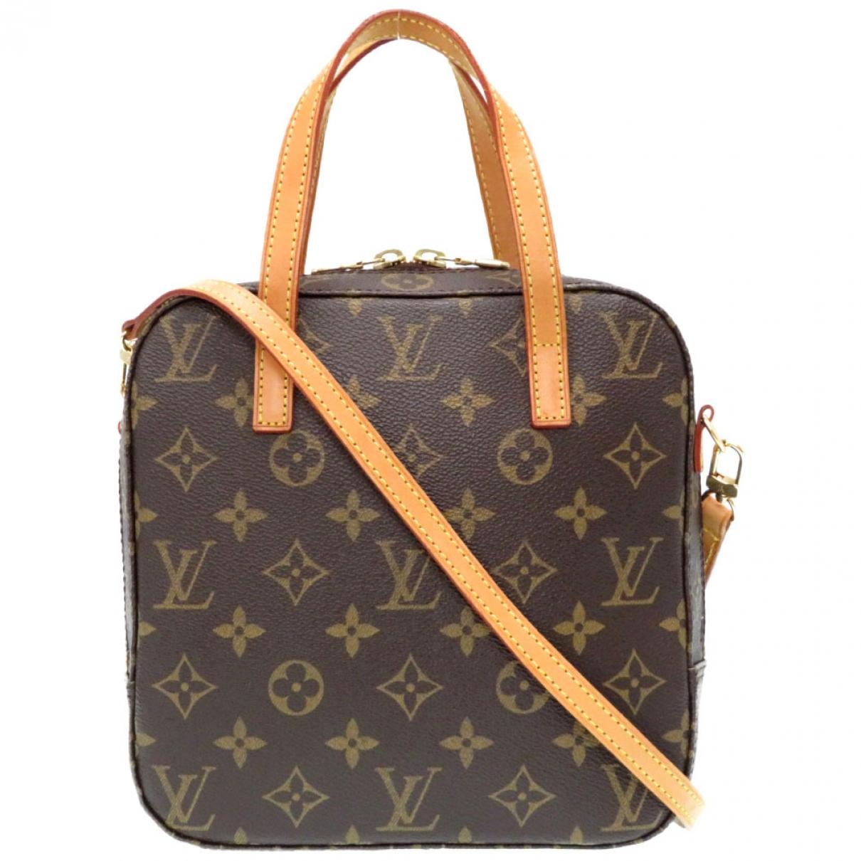 Louis Vuitton - Sac a main Spontini pour femme en toile - marron