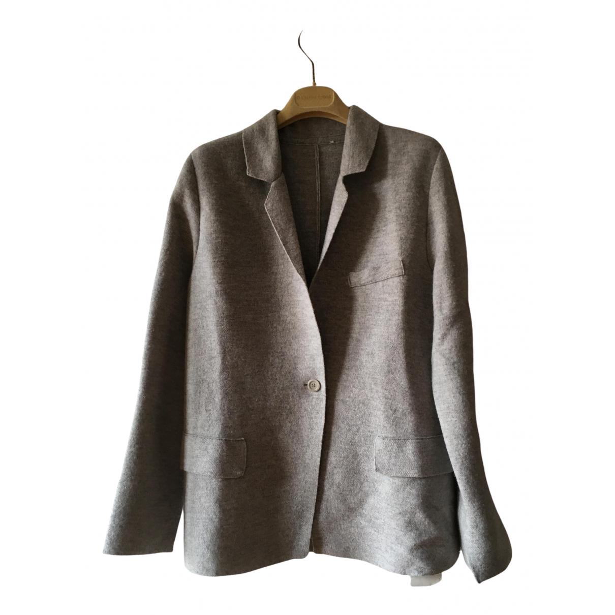 Max Mara - Pull   pour femme en cachemire - gris