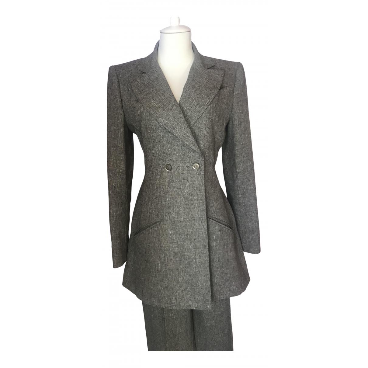 Chanel \N Grey Linen jacket for Women 38 FR