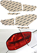 BMW X1 16-18 Red Tail Light Covers Lamin-X B257R