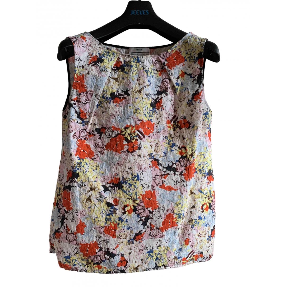 Erdem - Top   pour femme en coton - multicolore