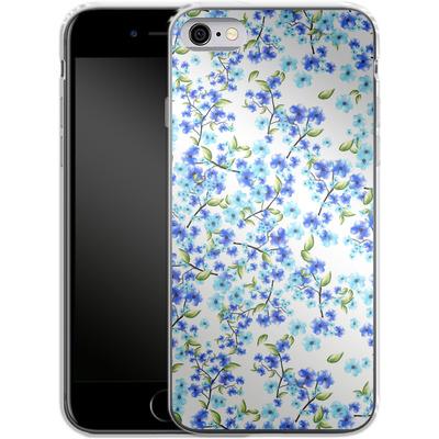 Apple iPhone 6 Silikon Handyhuelle - Blue Blooms von Mukta Lata Barua