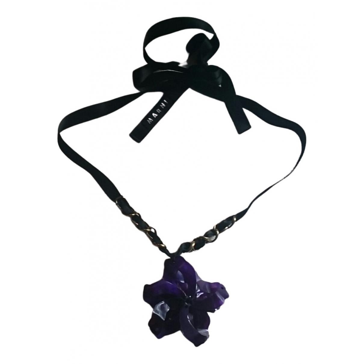 Marni - Collier   pour femme en corne - violet