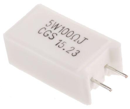TE Connectivity 100Ω Wire Wound Resistor 5W ±5% SQMW5100RJ (5)
