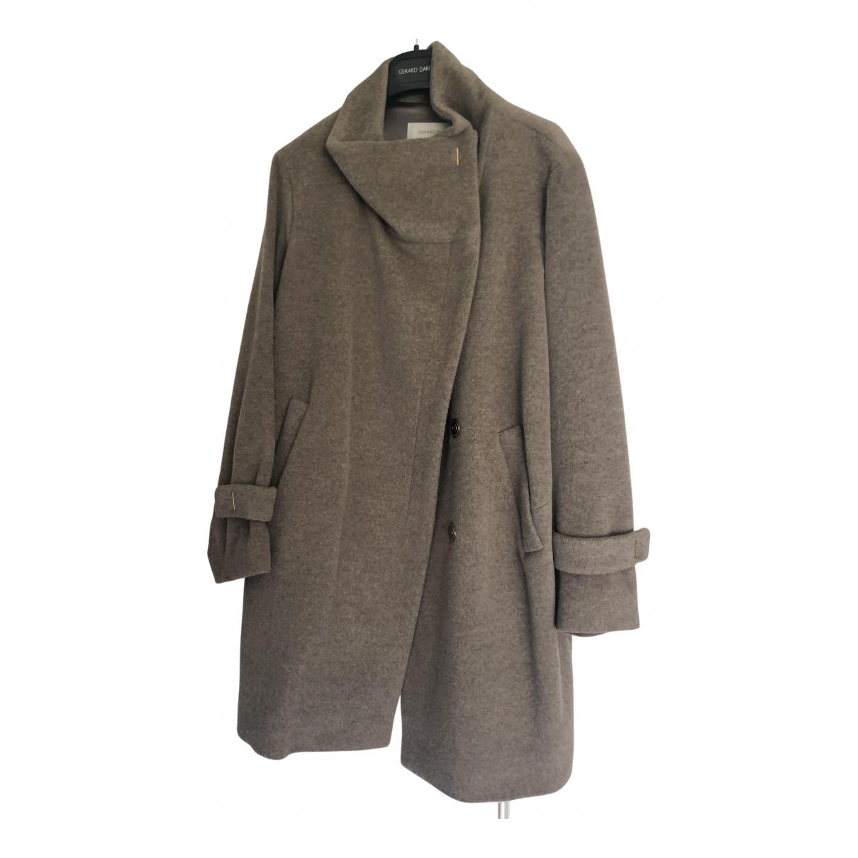 Gerard Darel - Manteau   pour femme en laine - beige
