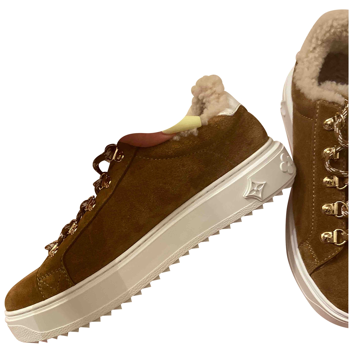 Louis Vuitton TimeOut Brown Suede Trainers for Women 37 EU