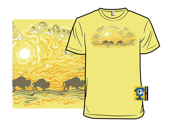 Buffalo Sunset T Shirt