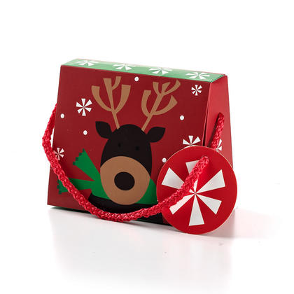 Christmas Cardboard Purse Gift Card Holder with Gift Tag 5x4 1Pc - Red