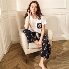 Conjunto de pijama con nudo con bolsillo con estampado floral