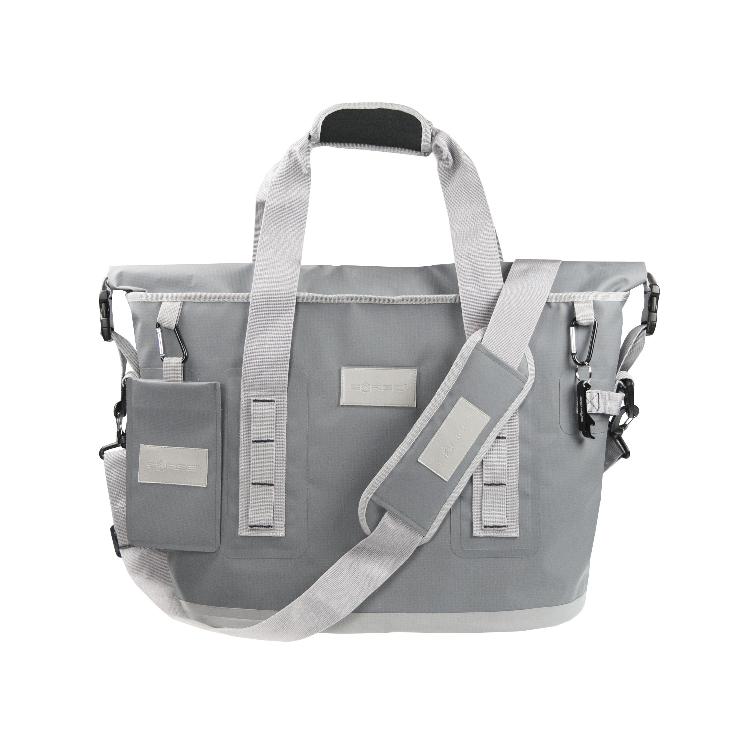 Traverse - Gray Roll Top Cooler Bag
