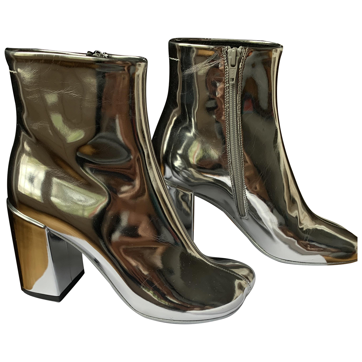 Mm6 - Boots   pour femme - argente