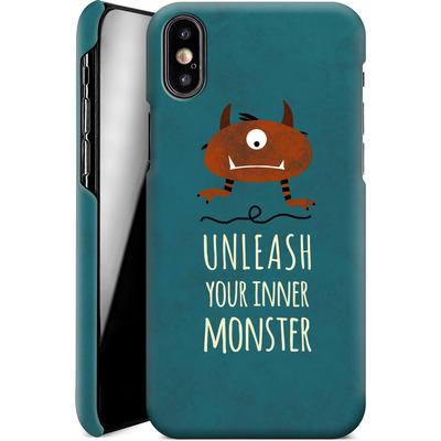 Apple iPhone X Smartphone Huelle - Unleash Your Inner Monster von Statements