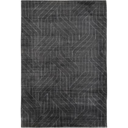 Hightower HTW-3011 9' x 13' Rectangle Modern Rug in Charcoal  Black