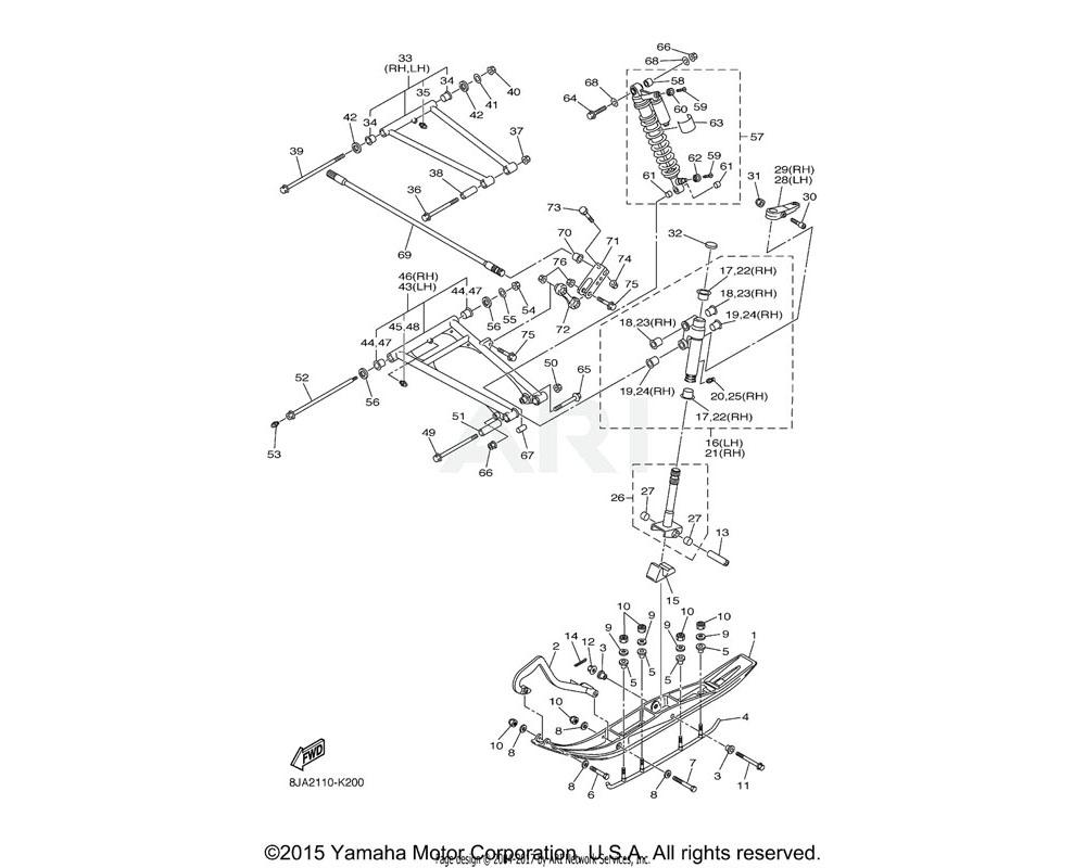 Yamaha OEM 5JW-2319W-00-00 KNOB (TEN)