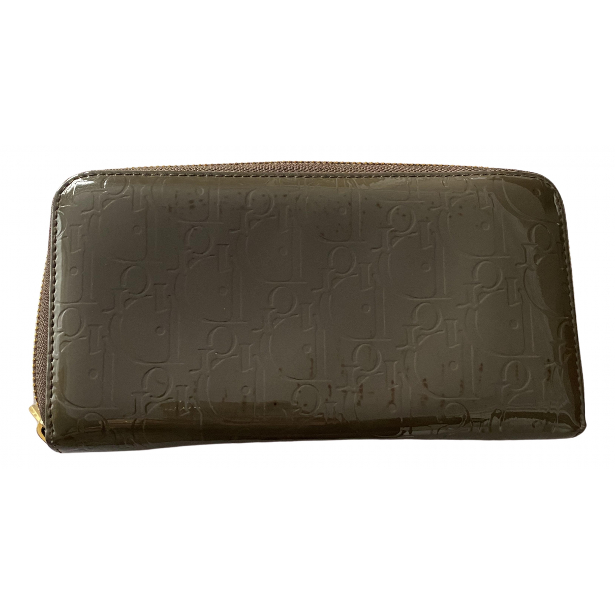 Dior \N Portemonnaie in  Khaki Lackleder