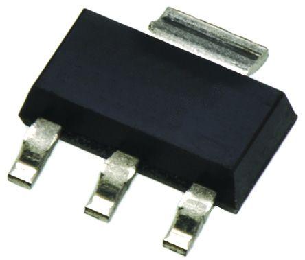 DiodesZetex AZ1117H-ADJTRE1, LDO Regulator, 1A Adjustable, 1.25 → 12 V, 2% 3+Tab-Pin, SOT-223 (50)