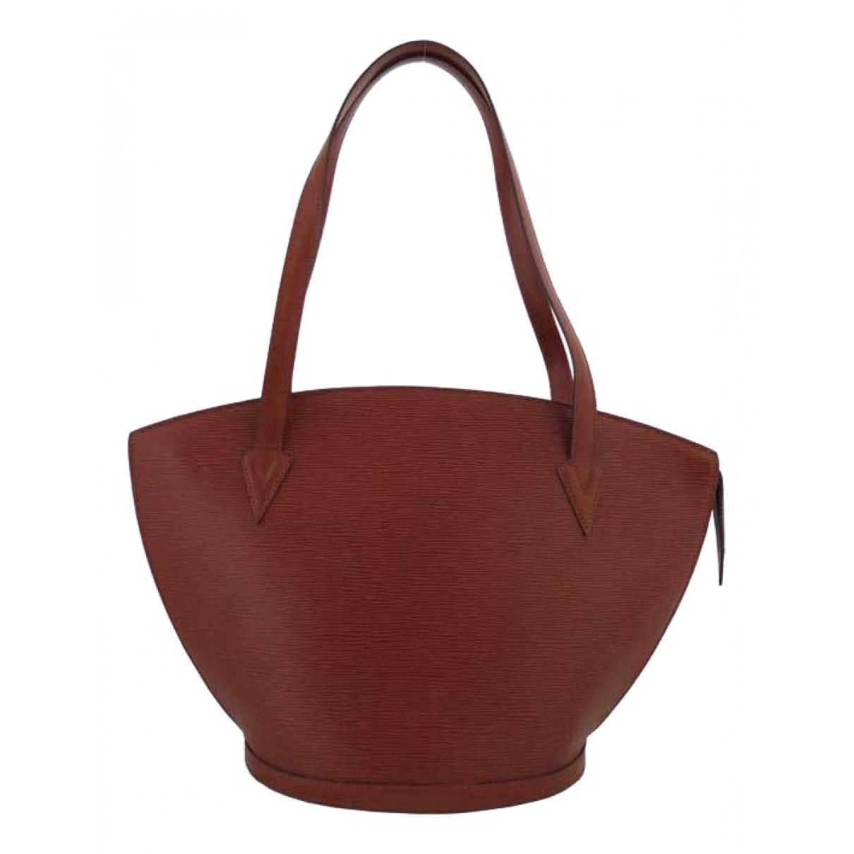 Louis Vuitton - Sac a main Saint Jacques pour femme en cuir - rouge