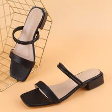 Minimalist Two Way Wear Block Heeled Sandals