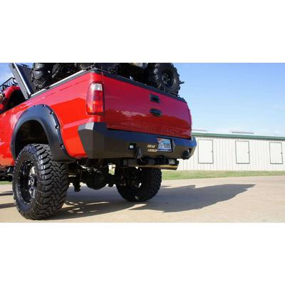 Road Armor Stealth Rear Bumper with Sensor Holes (Bare) - 618S0Z