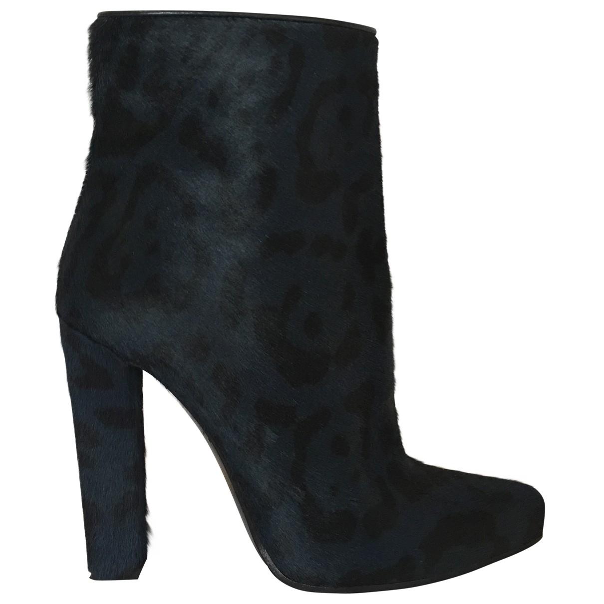 Roberto Cavalli - Boots   pour femme en cuir