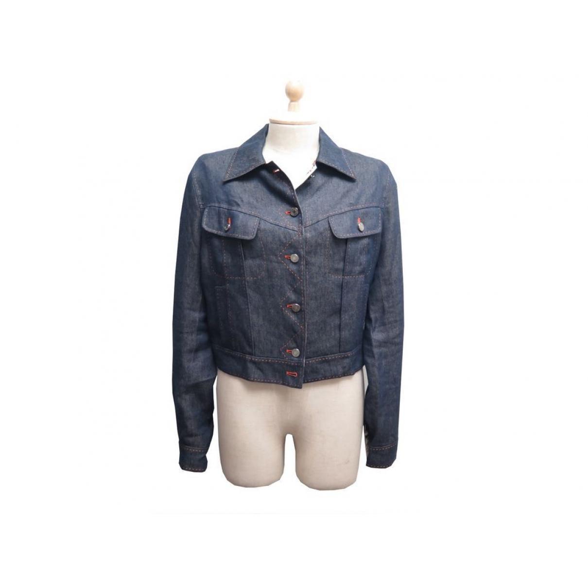 Hermes \N Jacke in  Blau Denim - Jeans