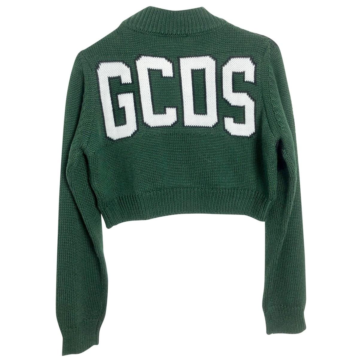 Gcds - Pull   pour femme en laine - vert