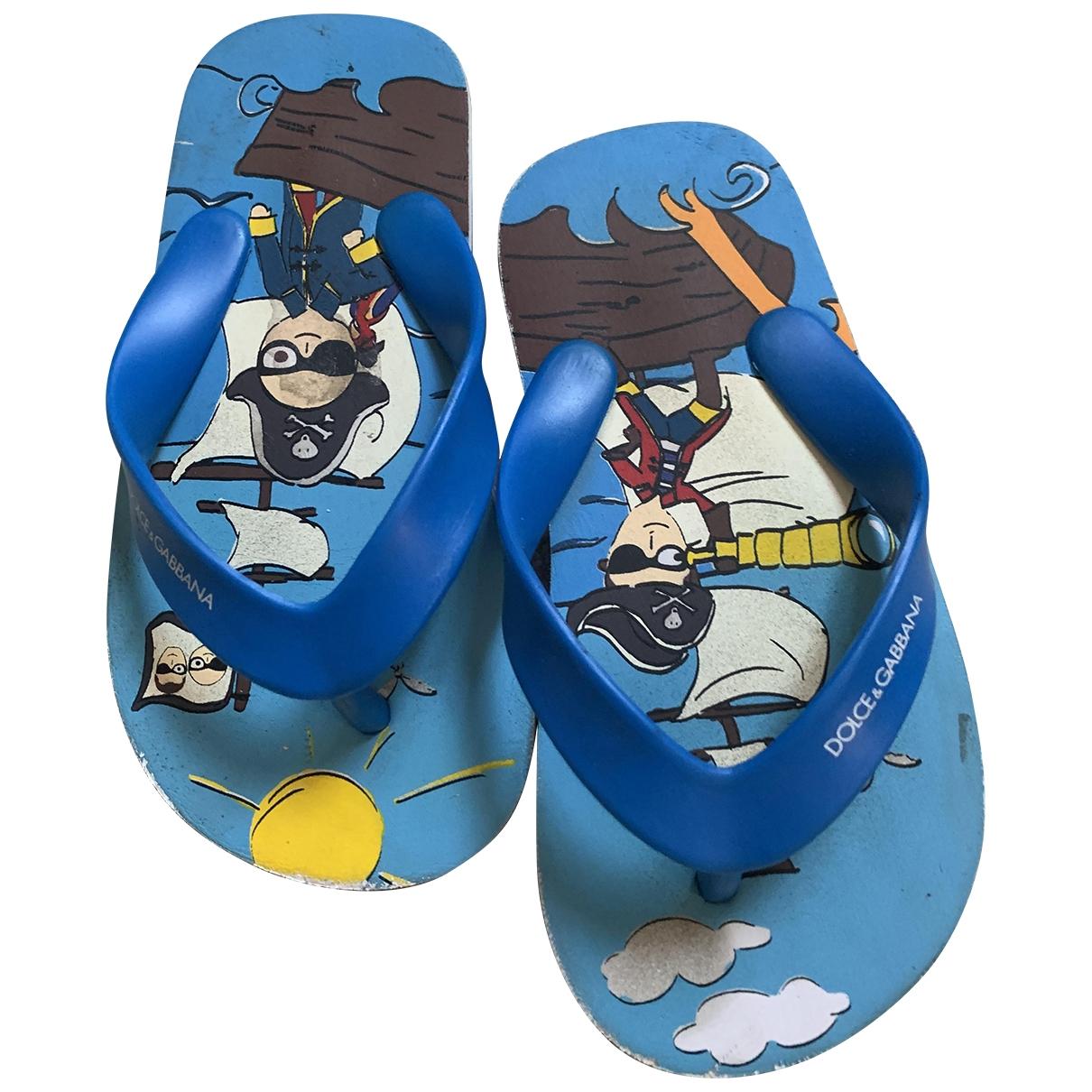 Dolce & Gabbana \N Blue Rubber Slippers for Kids 26 EU
