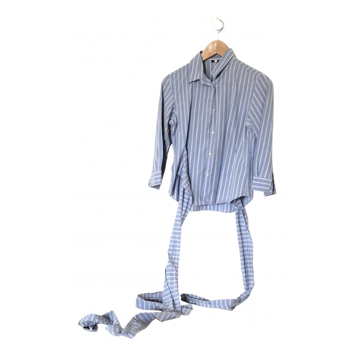 Aspesi - Top   pour femme en coton - turquoise
