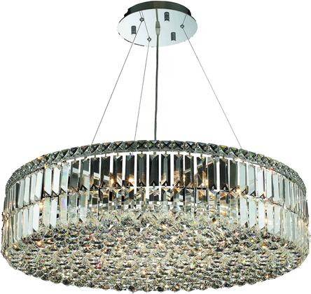V2030D32C/SS 2030 Maxime Collection Chandelier D:32In H:7.5In Lt:18 Chrome Finish (Swarovski   Elements