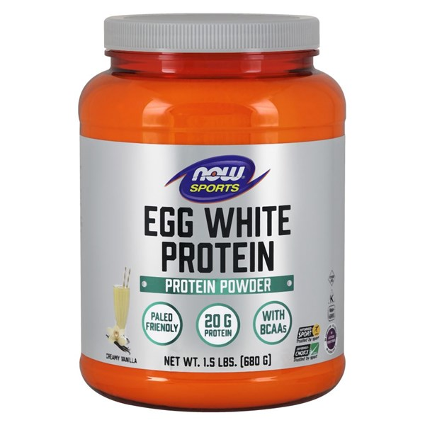 Eggwhite Protein Vanilla Creme 1.5 lbs by Now Foods