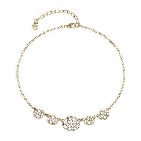 Gloria Vanderbilt 16 Inch Collar Necklace, One Size , White