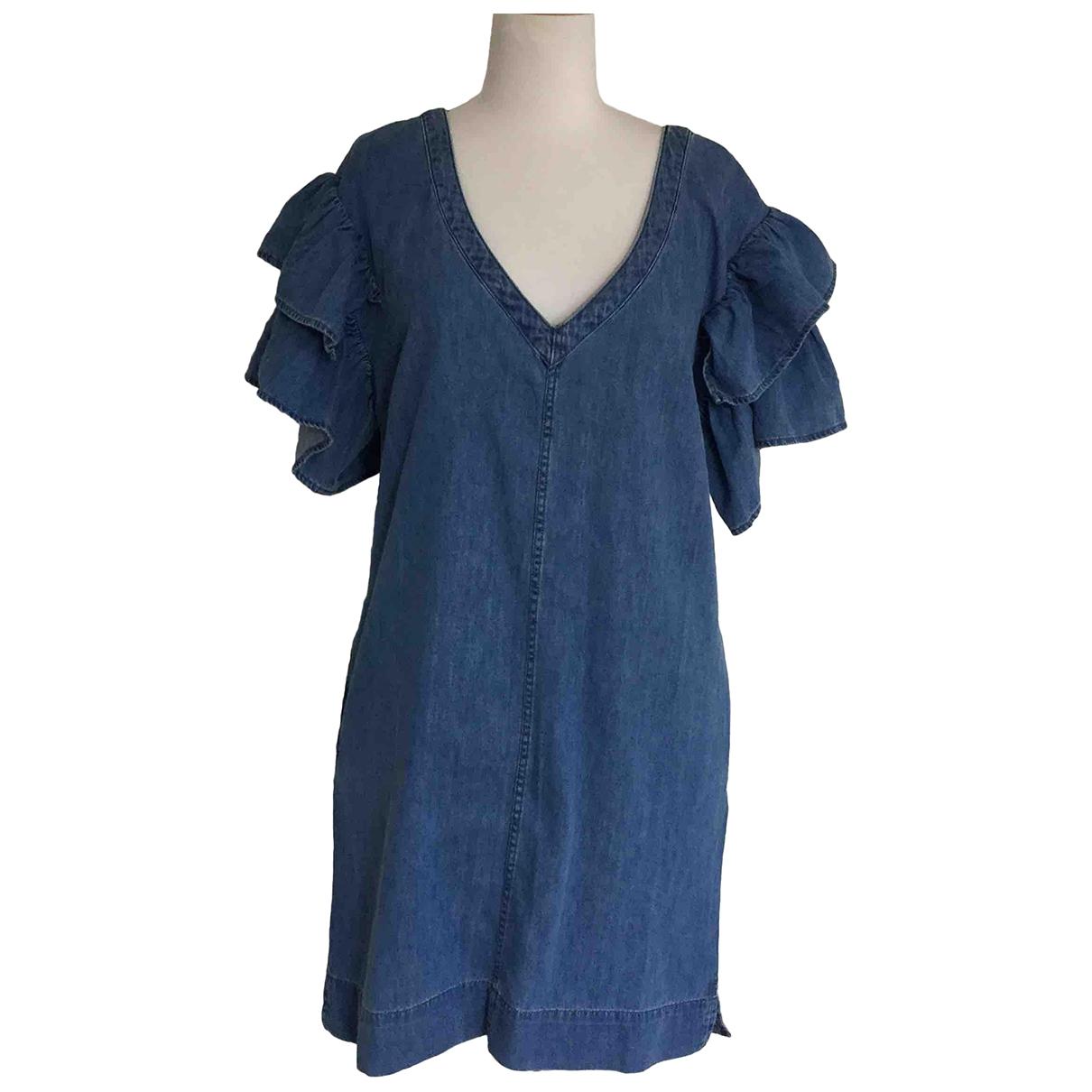 7 For All Mankind \N Kleid in  Blau Denim - Jeans