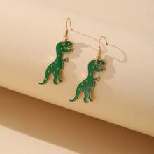 Dinosaur Charm Drop Earrings