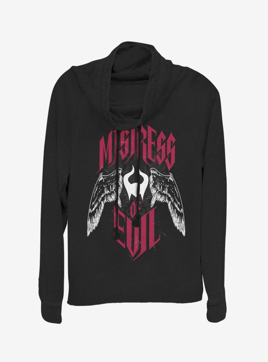 Disney Maleficent: Mistress Of Evil With Wings Cowlneck Long-Sleeve Womens Top