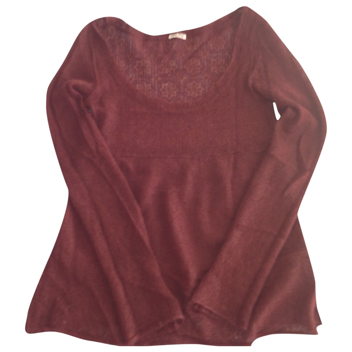 Miu Miu \N Burgundy Wool Knitwear for Women 42 IT