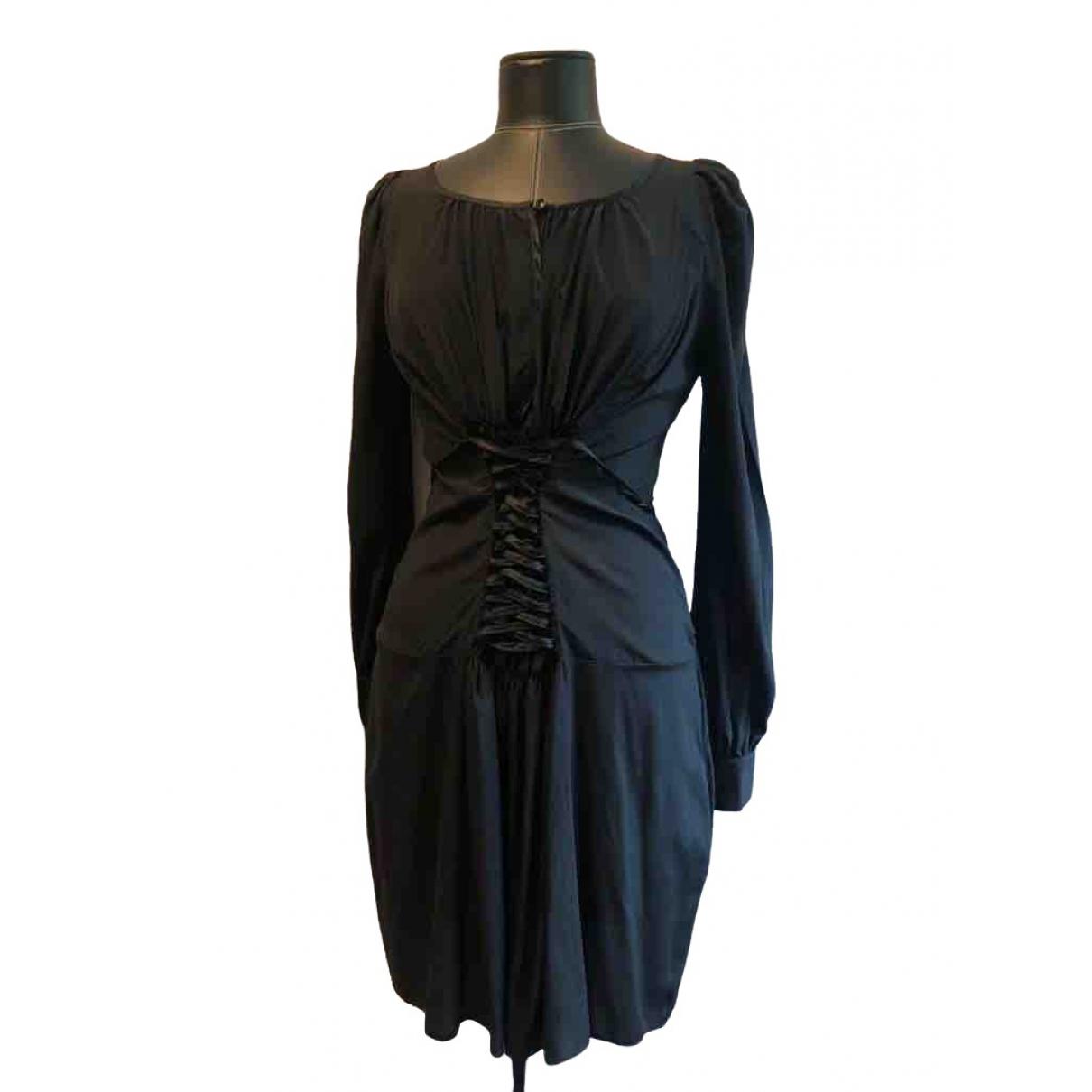 Roberto Cavalli \N Kleid in  Schwarz Seide