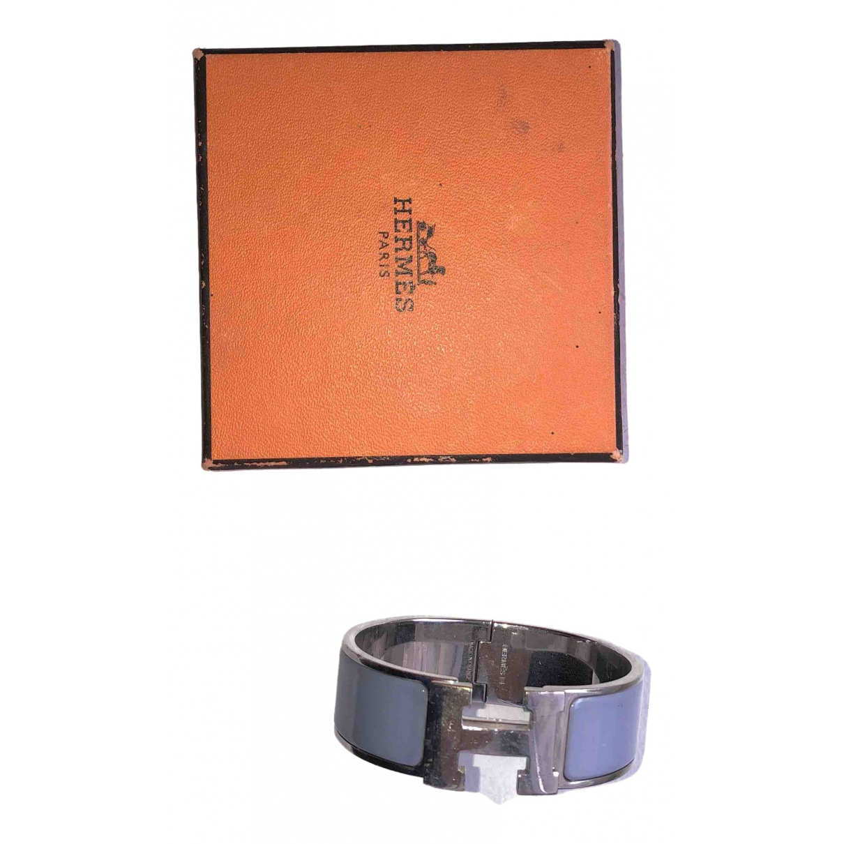 Hermes Clic H Armband in  Silber Silber