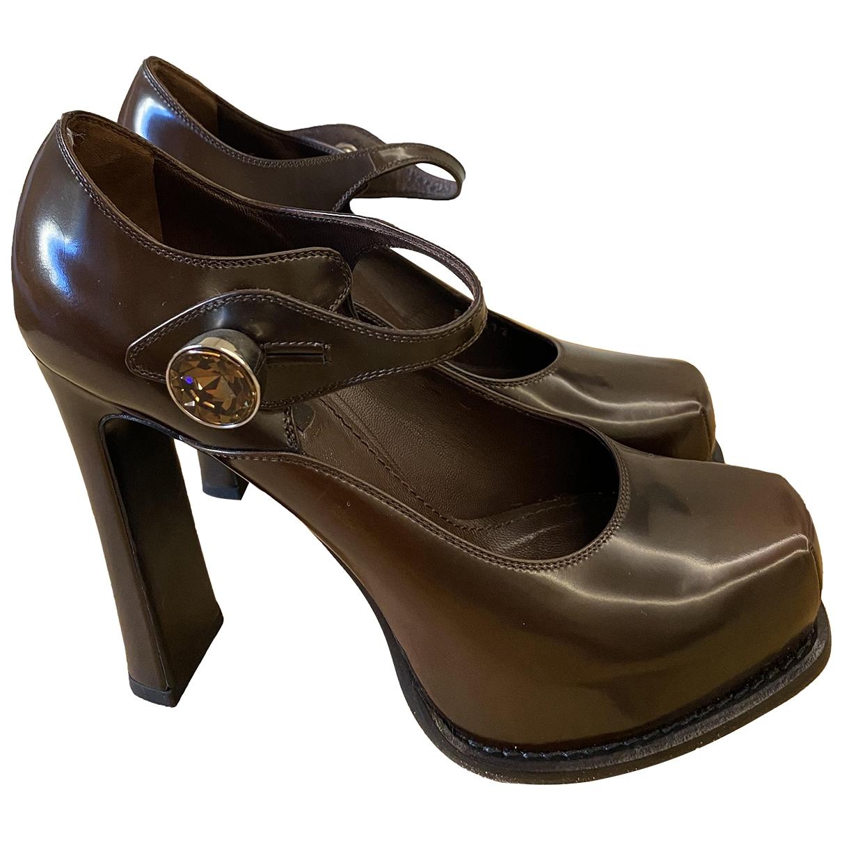Louis Vuitton \N Brown Leather Heels for Women 36.5 EU