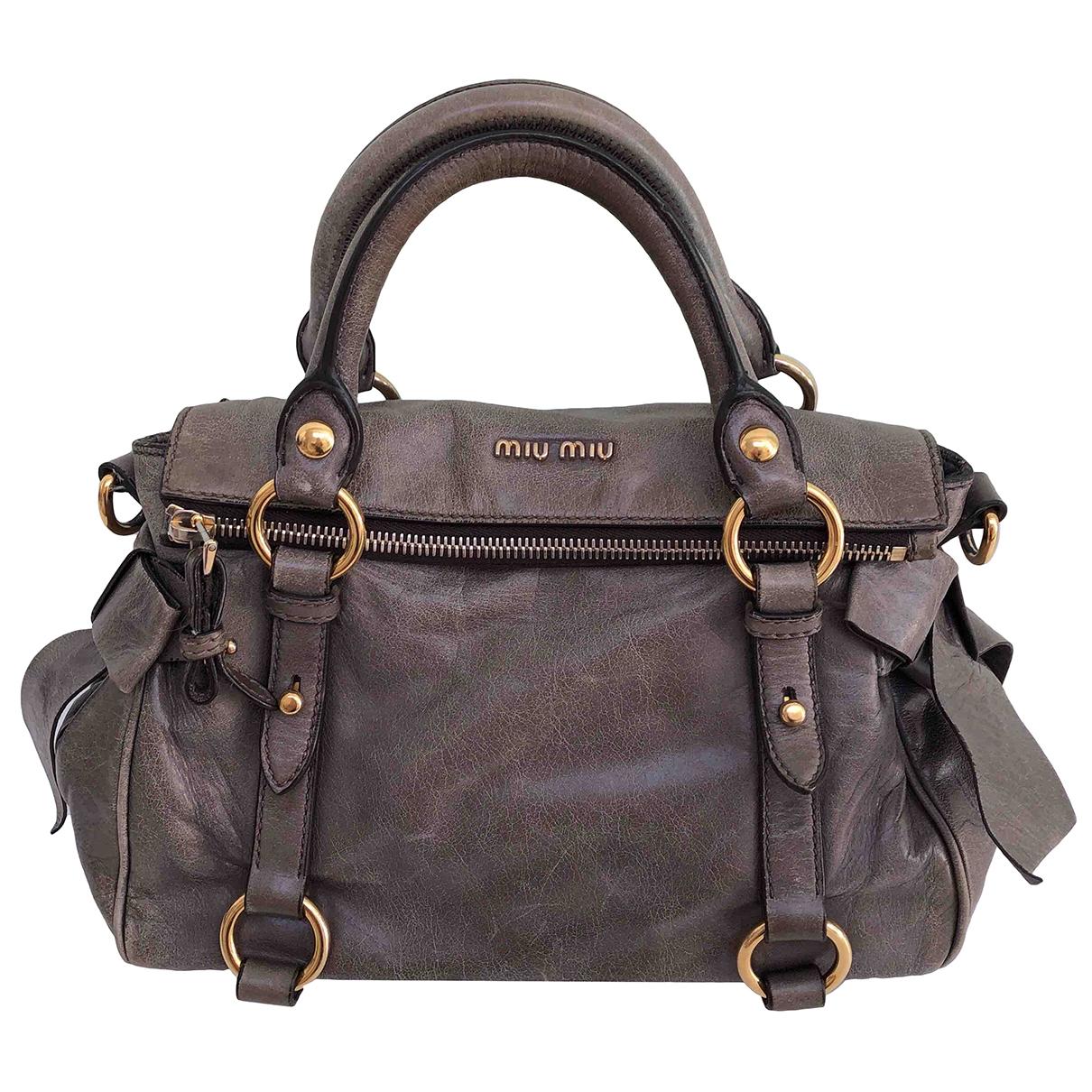 Miu Miu Bow bag Brown Leather handbag for Women \N