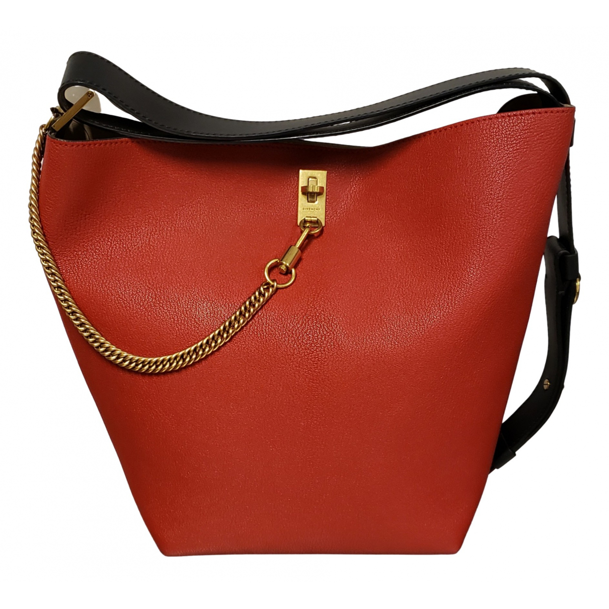 Givenchy - Sac a main Seau GV Bucket pour femme en cuir - rouge