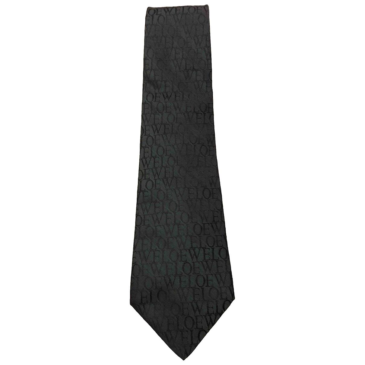 Loewe \N Green Silk Ties for Men \N