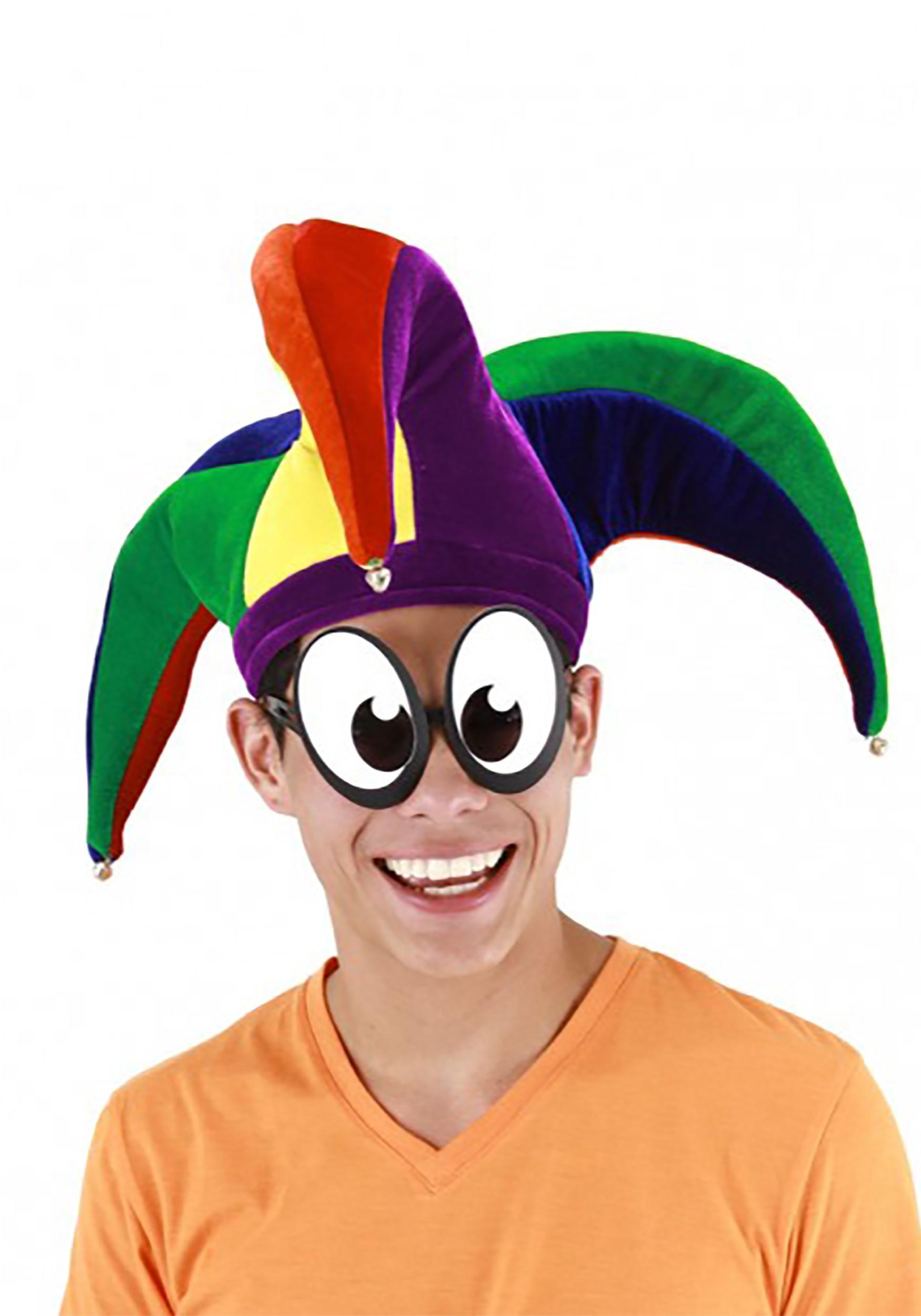 Plush Court Jester Multicolor Hat