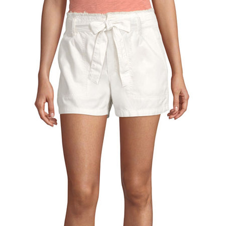 a.n.a Womens High Rise Pull-On Short, 12 , Gray