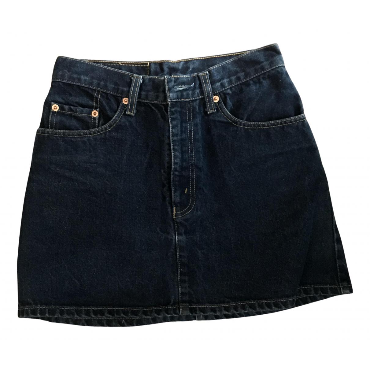 Levis Vintage Clothing - Jupe   pour femme en denim - bleu