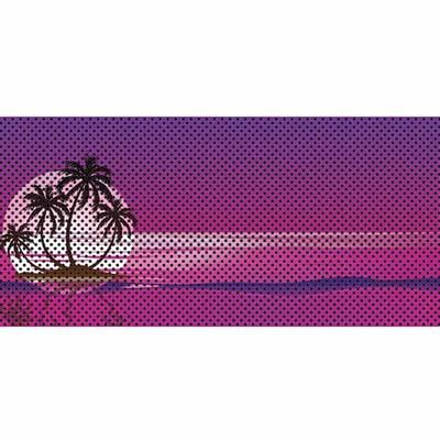Jeep Wrangler Grill Inserts 07-18 JK Endless Summer Purple Palm Tree Under The Sun Inserts INSRT-ESPRPPT-JK