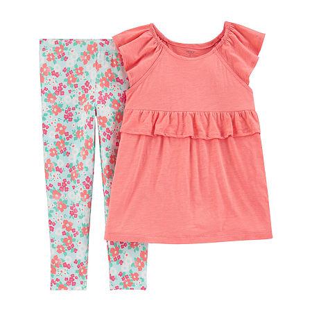 Carter's Little & Big Girls 2-pc. Legging Set, 6-6x , Pink