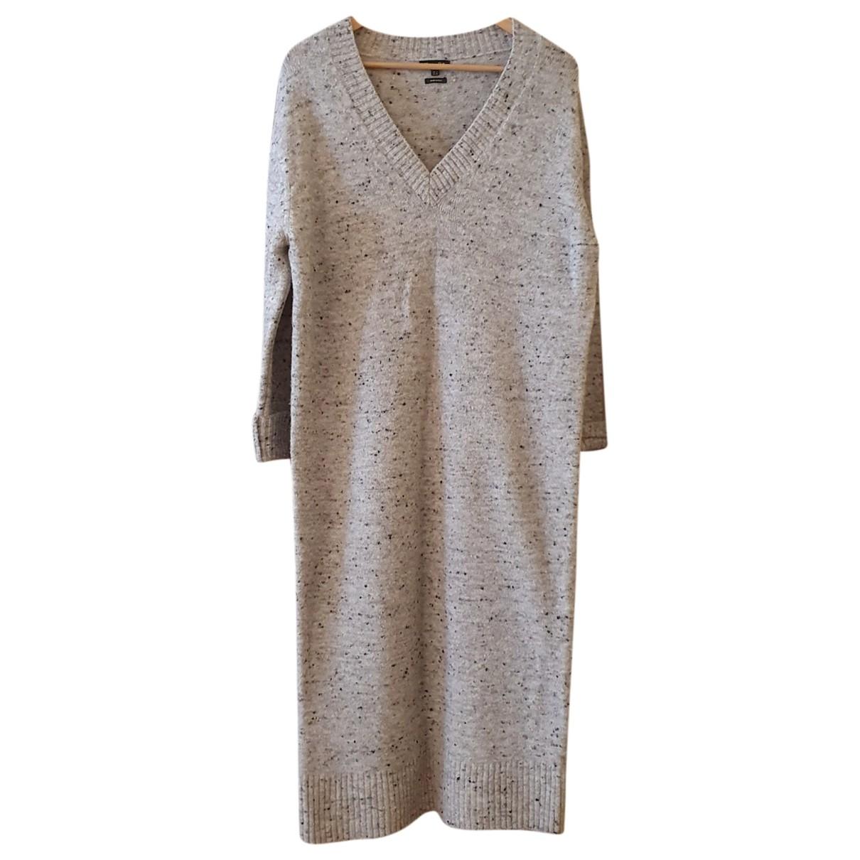 Massimo Dutti - Pull   pour femme en laine - ecru