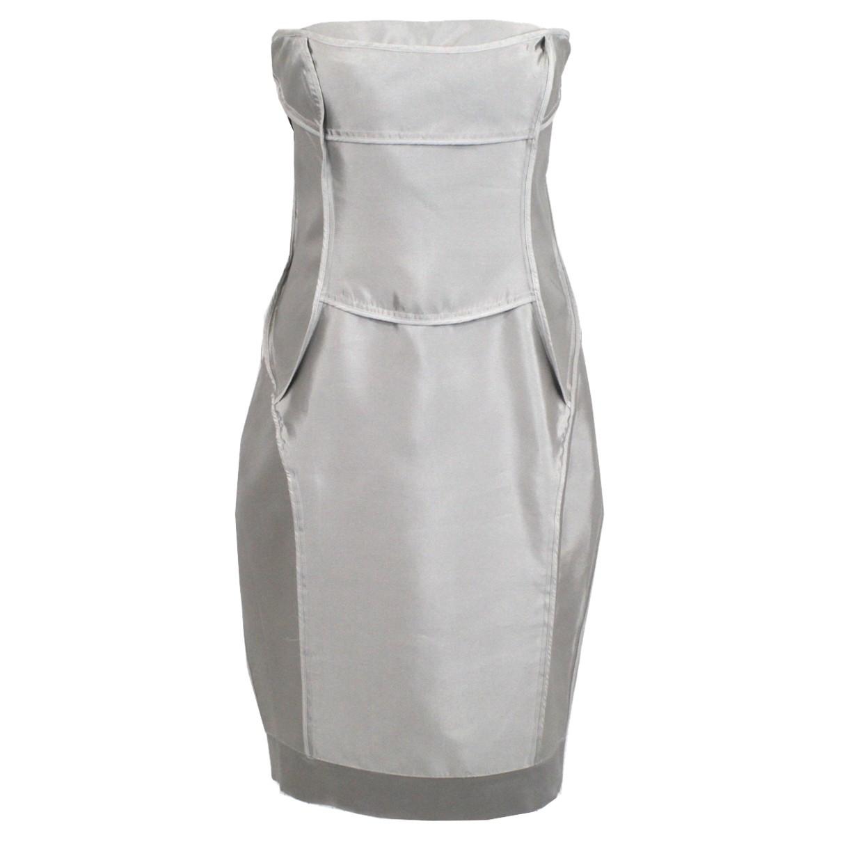 Amanda Wakeley \N Kleid in  Silber Seide
