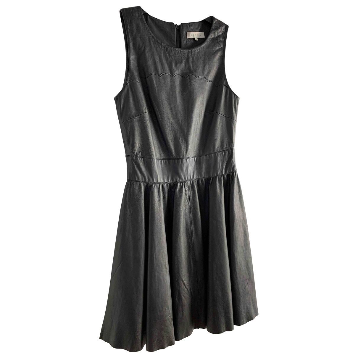Mini vestido de Cuero Sandro